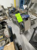 """CLEATED INCLINE CONVEYOR, APPROX. 6"""" W X 50"""" L BELT, EQUIPPED WITH SEW EURODRIVE MOTOR"""