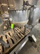 LEE APPROX. 100 GALLON S/S JACKETED KETTLE, MODEL 100D5S, S/N C4241A1,