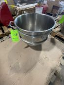 """S/S HOBART MIXING BOWL, 18"""" W X 16"""" DEEP (RIGGING, LOADING, SITE MANAGEMENT FEE $25)"""