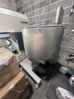 2014 RUHLE S/S VACUUM COOLING TUMBLER, MKR 150, S/N 1442, PORTABLE UNIT MOUNTED ON CASTERS, 220 V