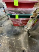 """(2) PORTABLE PLASTIC CARTS, APPROX. 34"""" X 24"""" X 20"""" LWD (RIGGING, LOADING, SITE MANAGEMENT FEE $10)"""