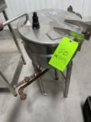 B.H HUBBERT S/S JACKETED KETTLE, S/N 3484, 40 PSI @ 287 F (RIGGING, LOADING, SITE MANAGEMENT FEE $