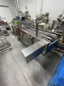 """MODERN PACKAGING S/S CHAIN TRAY CONVEYOR, 16' L x 22-3/4"""" W, CABINET INCLUDES PNEUMATIC VALVE"""