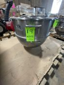 """S/S HOBART MIXING BOWL, 20"""" W X 18"""" DEEP (RIGGING, LOADING, SITE MANAGEMENT FEE $25"""