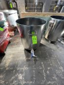 """S/S TANK, 25"""" DIAMETER X 27"""" HEIGHT, 2"""" (RIGGING, LOADING, SITE MANAGEMENT FEE $100)"""
