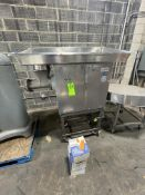 """BIRO MEAT GRINDER, MODEL 548, S/N 25484, PORTABLE UNIT MOUNTED ON CASTERS, 26"""" W X 50"""" L INFEED"""