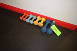 Rubber Dumbbells, Includes Set of 2 lbs., 3 lbs., 4 lbs., & 8 lbs. (LOCATED @ 2800 GOLDEN MILE