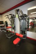 """Matrix Lat Pull Down, with 10-295 lbs. Plates, with Bar, Overall Dims.: Aprox. 54"""" L x 47"""" W x 87-"""
