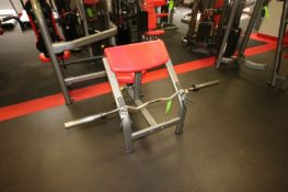 """Matrix Curl Bench, with Bar & (2) Clamps, Overall Bench Dims.: Aprox. 37"""" L x 27"""" W x 36"""" H (LOCATED"""