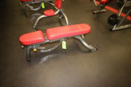 """Fitness Bench, with Adjustable Back & Seat, with (2) Wheels on Frame, Bench Total Length: Aprox. 53"""""""