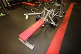 "Matrix Flat Bench Press, with (6) 45 lbs. Plates, Overall Dims.: Aprox. 68"" L x 48"" W x 39"" H ("