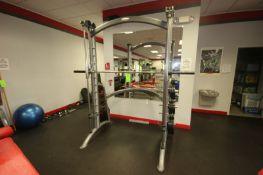 Matrix Smith Press Machine, with (6) 10 lbs. Plates, (6) 25 lbs. Plates, (6) 45 lbs. Plates, Overall