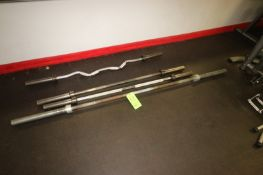 """(4) Weight Bars, Includes (1) Olympic Bar, Aprox. 86-1/2"""" L, (2) Other Straight Bars, Aprox. 61"""""""