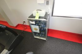 """Haler Mini Refrigerator, with Front Sight Glass Door, Overall Dims.: Aprox. 18"""" L x 19-1/2"""" W x"""