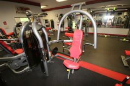 """Matrix Chest Press Cable Machine, 10-250 lbs. Weight Range on Plates, Overall Dims.: Aprox. 64"""" L"""