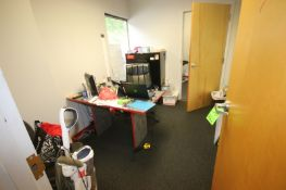 Contents of Office, Includes (1) Desk, (1) Chair, 4-Drawer Horizontal Filing Cabinet, Marker