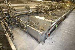 14,000 lb. S/S Ribbon Blender, S/N 70-204, R.H., with 75 hp Motor, 460 Volts, 3 Phase, Internal
