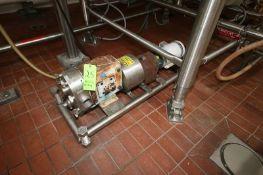 Waukesha Cherry-Burrell 2 hp Positive Displacement Pump, M/N 060, S/N 353504-04, with Baldor 1755