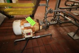 Puriti 7.5 Centrifugal Pump, M/N C-216, S/N 229353 98, with Reliance 3510 RPM Motor, 230/460