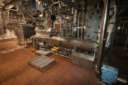 BULK BID INCLUDES LOTS 116-117--Direct Steam Inject S/S Cheese Auger Cooker, Kraft Foods Rotating