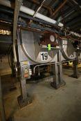 14,000 lb. S/S Ribbon Blender, S/N 3894-91, L.H.,with 75 hp Motor, 460 Volts, 3 Phase, Internal