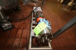 SPX 1.5 hp Positive Displacement Pump, M/N 030 U1, S/N 1000003000409, with Baldor 1755 RPM Motor,