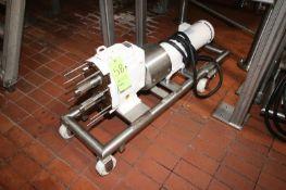 Waukesha Cherry-Burrell 2 hp Positive Displacement Pump, M/N 130, S/N 108251, with Baldor 1750 RPM