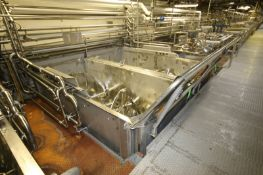 14,000 lb. S/S Ribbon Blender, S/N 70-202, R.H., with Reliance 75 hp Motor, 1770 RPM, 460 Volts, 3