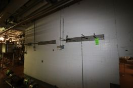 """S/S Bar Rack, Aprox. Aprox. 23-1/2"""" L Bars, Wall Mounted (LOCATED IN CHAMPAIGN, IL)"""