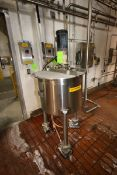 Walker 50 Gal. S/S Mix Tank, M/N HOLD, S/N 4774, MAT'L: 316 L SS, with Hinge Lids, with 1.5 hp Top