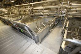 "14,000 lb. S/S Ribbon Blender, S/N 70-198, L.H., Internal Blending Compartment Dims.: Aprox. 144"""