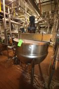 Lee 200 Gal. S/S Kettle, M/N 200D75, S/N B6321A, MAWP 90 PSI @ 332 F, MDMT -20 F @ 90 PSI, with