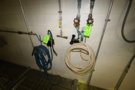 Lot of (3) Strahman Mix Stations, with Hose & Hose Holsters, Wall Mounted, with (2) HP Foamers, Wall