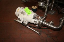 """Puriti 7.5 hp Centrifugal Pump, S/N 23094998, with Reliance 3510 RPM Motor, with Aprox. 3"""" x 1-1/"""