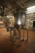 200 Gal. S/S Surge Tank, with Cone Bottom, Mounted on Load Cells & S/S Legs, Includes (5) Mennekes