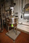 Groen 80 Gal. S/S Kettle, M/N RA-80, S/N 100986, MAX. WP: 100 PSI @ 338 F, with 0.75 hp Top