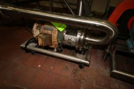 """Waukesha 5 hp Centrifugal Pump, M/N C218, S/N 29959, with Aprox. 3"""" x 1-1/2"""" Clamp Type Inlet/"""