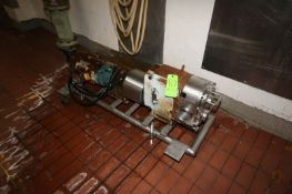 Waukesha Cherry Burrell 7.5 hp Positive Displacement Pump, M/N 220, S/N 425355-06, with Reliance