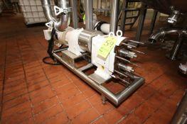 Waukesha 7.5 hp Positive Displacement Pump, M/N 60, S/N 115550, with Baldor 1770 RPM Motor, 208-