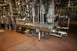 BULK BID: INCLUDES LOTS 64-66, (2) Direct Steam Inject S/S Cheese Auger Cooker, S/S Hopper/Feeder,