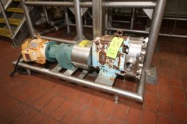 """Waukesha Cherry Burrell 5 hp Positive Displacement Pump, M/N 060, S/N 17826396, with 2-1/2"""" Clamp"""
