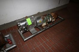 """Waukesha Cherry Burrell 5 hp Positive Displacement Pump, M/N 130, S/N 186918 96, with Aprox. 3"""""""