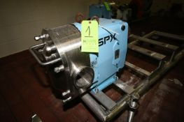 """2015 SPX Positive Displacement Pump Head, M/N 220UL, S/N 1000003046359, with Aprox. 4"""" Clamp Type"""