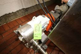 Waukesha 7.5 hp Positive Displacement Pump, M/N 130, S/N 145 321 P1-0, with Baldor 1770 RPM Motor,