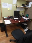 OFFICE DESK AND CHAIR (LOCATED IN MADISON, WI)