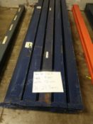 """PALLET RACKING, APPROX. (8) TEARDROP BEAMS WITH APPROX. 5"""" W X 8' L, APPROX. (8) TEARDROP BEAMS"""