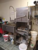 BUSSEY S/S DISHWASHER, MODEL 0-2, S/N 111, 120 V (LOCATED IN MADISON, WI)(RIG FEE: $150)