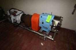 """SPX 25 hp Positive Displacement Pump, M/N 220UL, S/N 10000020282964, with Aprox. 4"""" Clamp Type"""