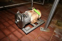 """Waukesha 5 hp Centrifugal Pump, M/N C218, S/N 2102, with Aprox. 3"""" x 1-1/2"""" Clamp Type Inlet/"""