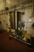 T & C 300 Gal. Single Wall Tank, with 3 hp Positive Displacement Pump, M/N 130, S/N 232632, Tank